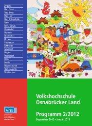 Volkshochschule Osnabrücker Land Programm 2/2012 September ...