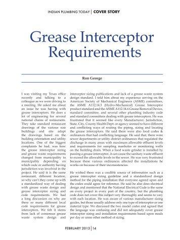 Grease Interceptor Requirements - Ipt.co.in