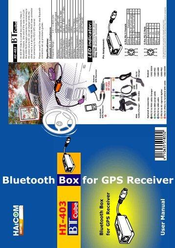 HI-403 Bluetooth Box for GPS Receiver User Manual ... - HKAvionics