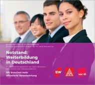 Notstand: Weiterbildung in Deutschland - GEW