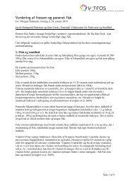 Vurdering af frossen og paneret fisk - Viffos
