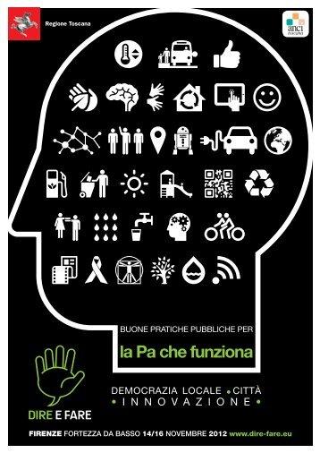 La brochure di Dire&Fare 2012 - Anci Toscana