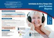 actividades de ocio para personas mayores (diptico) - Ayuntamiento ...
