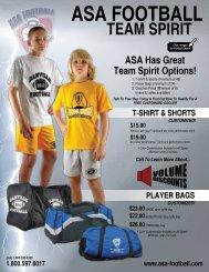 1.800.597.6017 t-shirt & shorts $15.00 - ASA Football