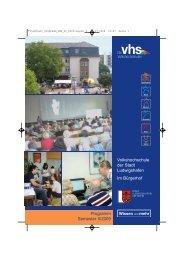 Volkshochschule der Stadt Ludwigshafen Im Bürgerhof Programm ...