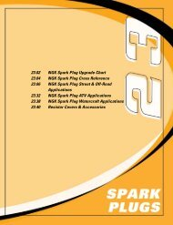 Spark Plug Cross Reference Chart - Weekend Freedom Machines