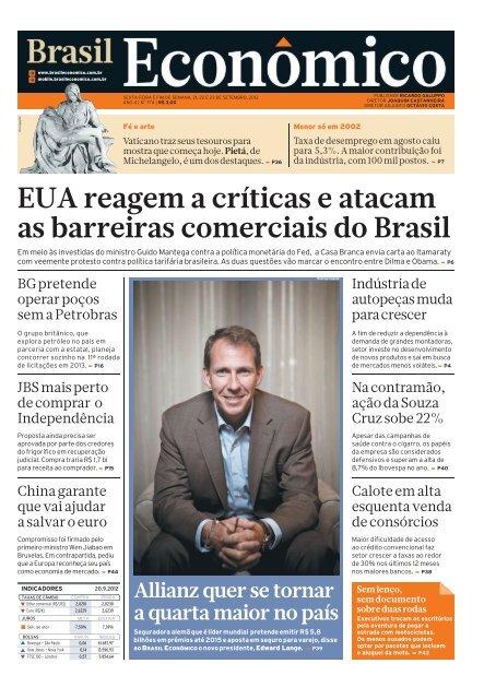 EUA reagem a críticas e atacam as barreiras - Brasil Econômico - iG