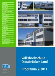 Volkshochschule Osnabrücker Land Programm 2/2011
