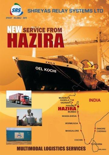 New Service from Hazira - Balaji Shipping