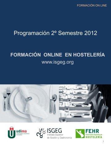 Programación 2º Semestre 2012. - Fehr