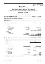 Bilancio 2003 e allegati Acrobat Reader (PDF) - Wgov.org