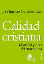 Calidad cristiana - Editorial Sal Terrae