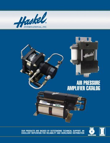 Haskel Aire Pressure Amplifier Catalog - Wainbee Limited