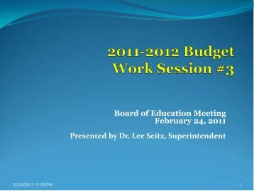 2011-2012 Budget Work Session 3 - the Parsippany-Troy Hills ...