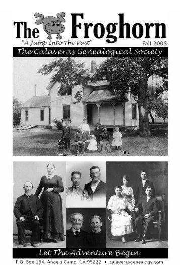 Fall 2008 - Calaveras Genealogical Society