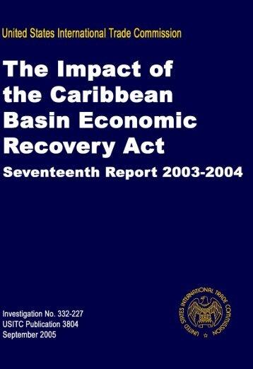 Seventeenth Report 2003-2004 - USITC