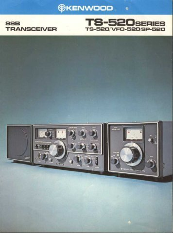 Kenwood TS-520 (Brochure #1) - WB4HFN Home Page