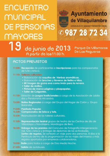 encuentro municipal de personas mayores - Ayuntamiento de ...