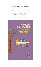 Et puis, Paulette… - Le Livre de Poche
