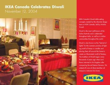 IKEA Canada Celebrates Diwali November 12, 2004