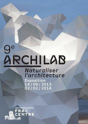 dépliant ArchiLab 2013 - FRAC Centre