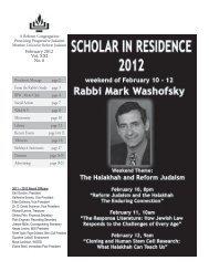 Feb 2012 - Temple Beth Israel
