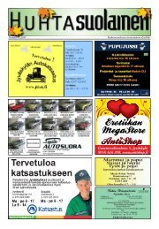 Huhtasuonalueen sitoutumaton aluelehti Numero 4. 2009