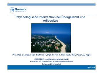Psychologische Intervention - Adipositas MV
