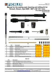 Manual for the sealing seat cleaning and milling kit for Renault ...