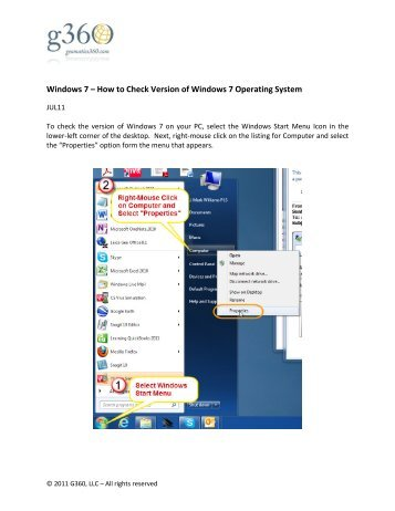 Windows 7 – How to Check Version of Windows 7 Operating System