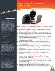 Pramid Brochure - Pyramid Cyber Security & Forensic