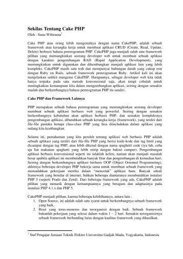 Sekilas Tentang Cake PHP.pdf - Teknik Elektro UGM - Universitas ...
