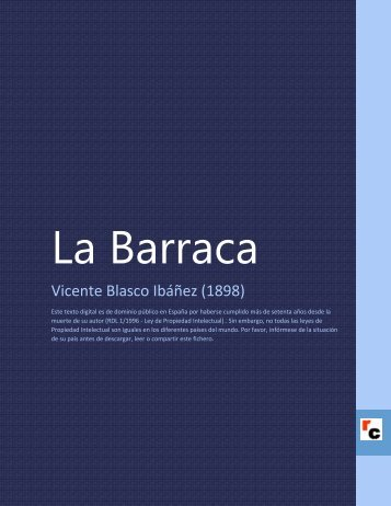 La Barraca - Descarga Ebooks