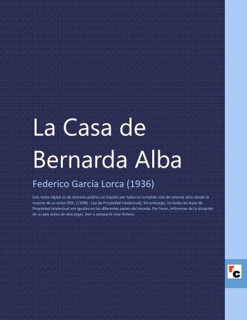 La Casa de Bernarda Alba - Descarga Ebooks