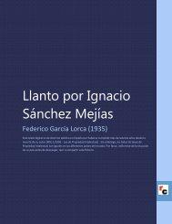 Llanto por Ignacio Sánchez Mejías - Descarga Ebooks