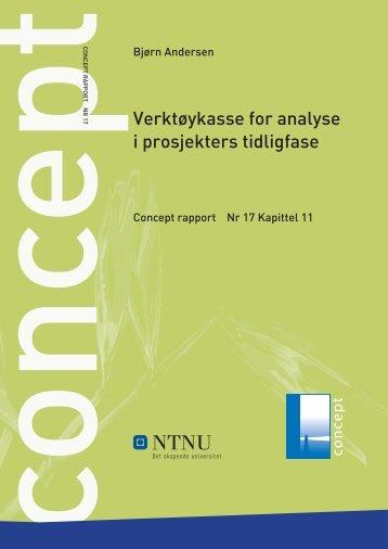 Verktøykasse for analyse i prosjekters tidligfase - Concept - NTNU