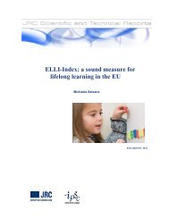 ELLI-Index: a sound measure for lifelong learning in ... - EUROlocal