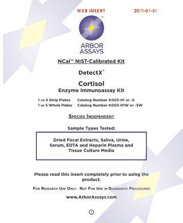 Download datasheet for : Cortisol Enzyme Immunoassay kit - 1
