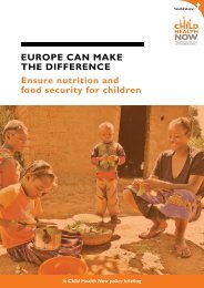EuropE can makE thE diffErEncE Ensure nutrition and food security ...