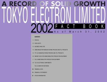 PDF (310KB) - Tokyo Electron Limited (TEL)