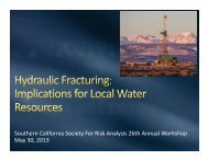 Hydraulic Fracturing - The Society for Risk Analysis
