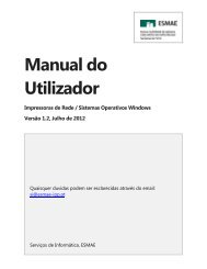 Manual de configuração Windows XP, 7, Vista - ESMAE