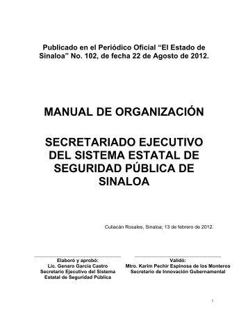 Manual de Organización del Secretariado Ejecutivo del Sistema