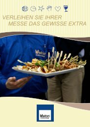 Winkler Messe Broschüre - bei Winklers Catering