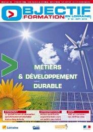 métiers & développement durable métiers ... - Inffolor
