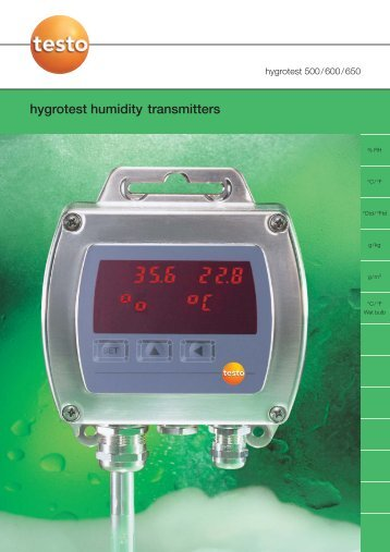hygrotest humidity transmitters