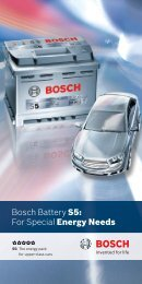 Bosch Battery S5: For Special Energy Needs