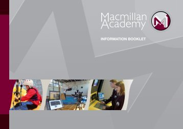 INFORMATION BOOKLET - Macmillan Academy