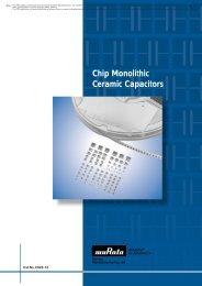 Chip monolithic ceramic capacitors