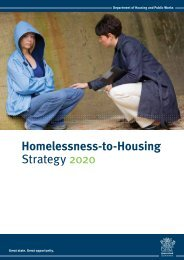 Homelessness-to-Housing strategy - Department of Housing and ...